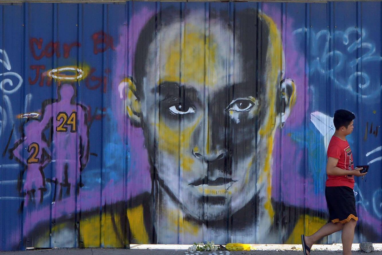コービー・ブライアントを悼むダバオの壁画